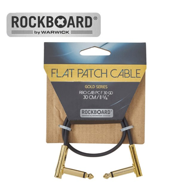 RockBoard  패치케이블 Flat Patch Cable - Gold (30cm)뮤직메카