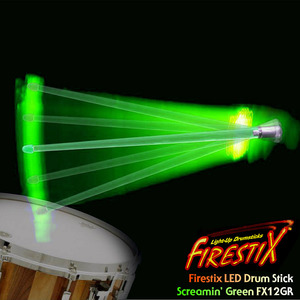 "Firestix LED Drumstick ""Green"" LED 드럼스틱 FX12GR 뮤직메카"