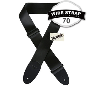 Muztek 뮤즈텍 멜방/스트랩 70mm Nylon Strap / Black (MWS-70NBK)