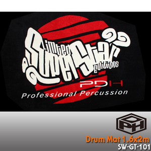 PDH Deluxe Drum Mat 드럼매트 1.6 x 2.0m /SW-GT-101 뮤직메카