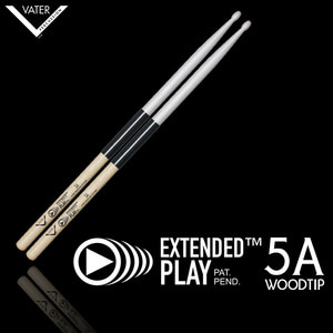 Vater 베이터 드럼스틱 Extended Play 5A Wood Tip(압도적인 내구성!) / VEP5AW뮤직메카
