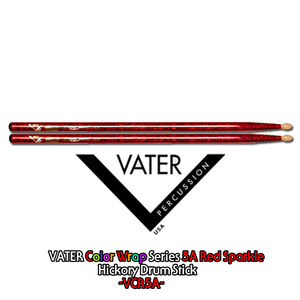Vater 베이터 드럼스틱 Color Wrap Series -5A Red Sparkle- / VCR5A뮤직메카