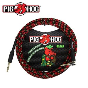 PIG HOG 피그호그 기타케이블 TARTAN PLAID 3m INSTRUMENT CABLE, RIGHT