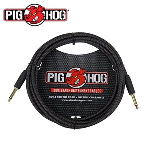 PIG HOG 피그호그 기타케이블 BLACK WOVEN 3m INSTRUMENT CABLE