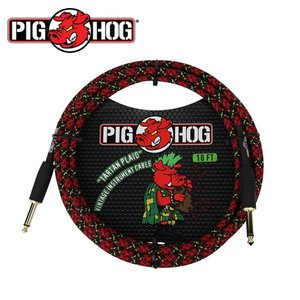 PIG HOG 피그호그 기타케이블 TARTAN PLAID 3m INSTRUMENT CABLE