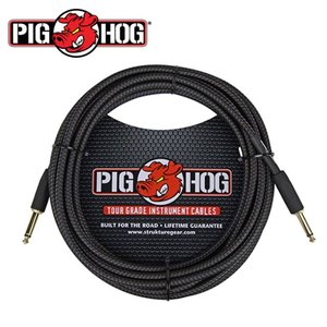 PIG HOG 피그호그 기타 케이블 BLACK WOVEN 6m INSTRUMENT CABLE