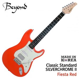 Beyond 비욘드 일렉기타 Classic Standard Silver Chrome II (F.Red)