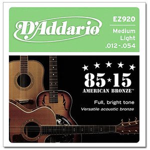 [D'Addario] 다다리오 통기타줄 EZ920 Medium Light 12-54 American Bronze