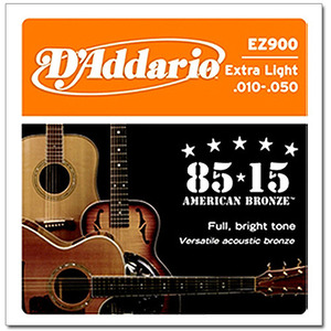 [D'Addario] 다다리오 통기타줄 EZ900 Extra Light 10-47 American Bronze